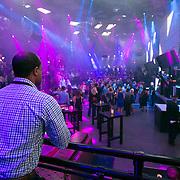 November 13, 2014, Las Vegas, Nevada:<br /> Stephen Villatoro works a party at the Light nightclub at the Mandalay Bay hotel in Las Vegas, Nevada Sunday, November 9, 2014.<br /> (Photo by Billie Weiss/TEAMS)