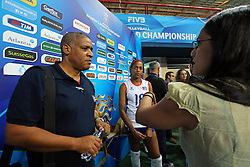Cuba head coach Juan Carlos Gala Rodriguez interview in mix zone