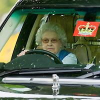 Windsor England  May 10th Her Majesty Queen Elizabeth II at the Windsor Horse Show