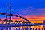 Thomas Vincent Bridge, Port of Los Angeles, Waterfront,  San Pedro, CA, Ships, docked, Vessel, Ports O' Call