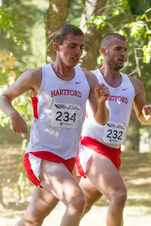 Boston College Invitational Cross Country race at Franklin Park; Matthew Stoutz and Michael MacLean, Hartford