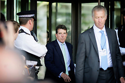 Former Barclays CEO Bob Diamond Leaves Portcullis House in central London after a parliamentary inquiry, July 7, 2012. Photo by Shaun Curry / i-Images