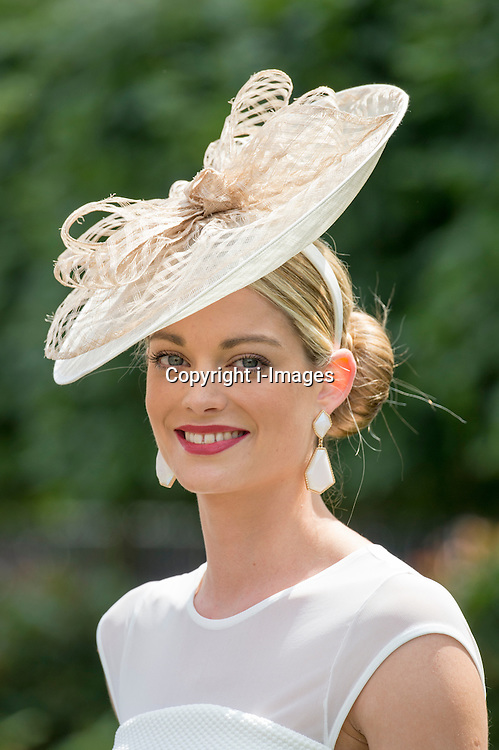 Image licensed to i-Images Picture Agency. 20/06/2014. Ascot, United Kingdom. Stephanie Foulston with her own hat design on day four of Royal Ascot. Picture by i-Images