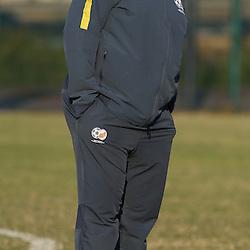 DURBAN, SOUTH AFRICA - Wednesday 10th June 2015 Shakes Mashaba Bafana Bafana Head Coach during The Bafana Bafana training session at  Moses Mabhida Stadium on Wednesday 10th June 2015 in Durban, South Africa<br /> Photo by Steve Haag