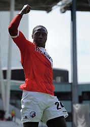 16-05-2010 VOETBAL: FC UTRECHT - RODA JC: UTRECHT<br /> FC Utrecht verslaat Roda in de finale van de Play-offs met 4-1 en gaat Europa in / Jacob Mulenga scoort de 3-1<br /> ©2010-WWW.FOTOHOOGENDOORN.NL
