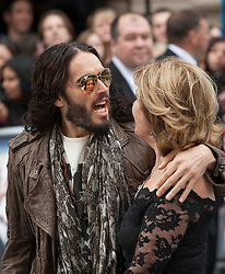 © licensed to London News Pictures. London, UK 10/06/2012. Russell Brand and his mother Barbara Brand attending to European premiere of Rock of Ages today in Leicester Square (10/06/12). Photo credit: Tolga Akmen/LNP