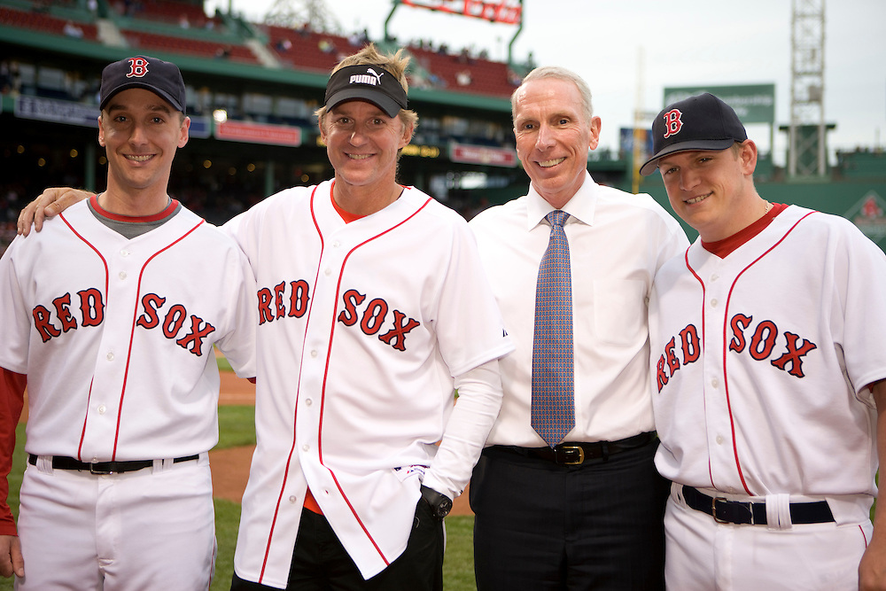 06MAY09 Ken Read is invited to throw the first pitch at the Boston Red Sox game, Fenway Park, Boston.
