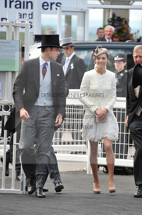 TRH THE DUKE & DUCHESS OF CAMBRIDGE at the Investec Derby at Epsom Racecourse, Epsom Downs, Surrey on 4th June 2011.