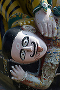 Detail of a roadside shrine in Pondicherry. South India.