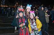Revellers at Princess Street garden, Edinburgh, Hogmanay, 2016
