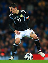 Angel di Maria of Argentina - Mandatory by-line: Matt McNulty/JMP - 23/03/2018 - FOOTBALL - Etihad Stadium - Manchester, England - Argentina v Italy - International Friendly
