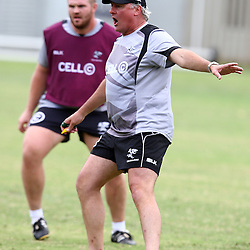 DURBAN, SOUTH AFRICA, November 25 2015 - Gary Gold (Sharks Director of Rugby) during The Cell C Sharks Pre Season training for the 2016 Super Rugby Season at Growthpoint Kings Park in Durban, South Africa. (Photo by Steve Haag)<br /> images for social media must have consent from Steve Haag