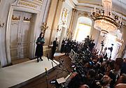 STOCKHOLM 2017-10-05<br /> Sara Danius tillk&auml;nnager Nobelpriset i litteratur 2017<br /> Foto: Nils Petter Nilsson/Ombrello