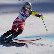 Winter Olympics, Vancouver, 2010.Fabienne Suter, Switzerland,  in action in the Alpine Skiing Ladies Super Combined competition at Whistler Creekside, Whistler, during the Vancouver Winter Olympics. 18th February 2010. Photo Tim Clayton