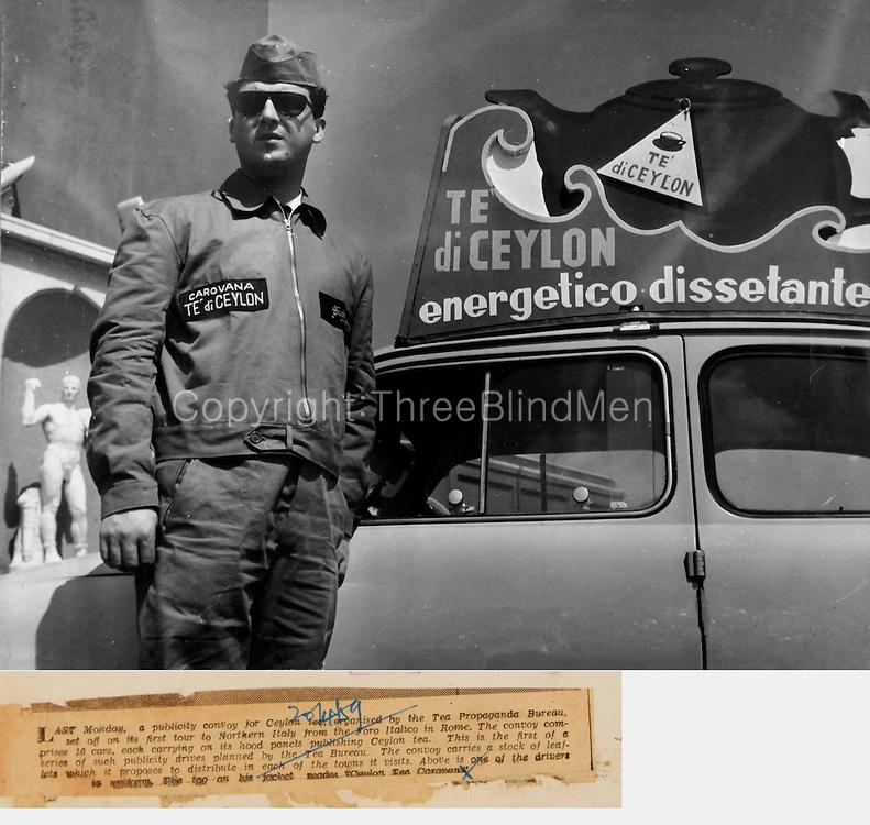 Ceylon Tea Bureau Tea Caravan in Italy 1959