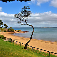 Cowes Beach in Cowes on Phillip Island, Australia<br />