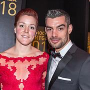 NLD/Amsterdam/20181219 - NOC*NSF Sportgala 2018, Jorien ter Mors en partner Jeroen Le Duc