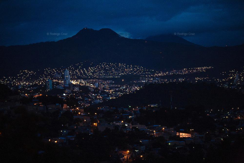 TEGUCIGALPA, HONDURAS - NOVEMBER 12, 2013: Landscape of Tegucigalpa City from Torocagua on the outskirt of Tegucigalpa, Honduras. Honduras will hold general elections on November 24. CREDIT: Rodrigo Cruz for The New York Times