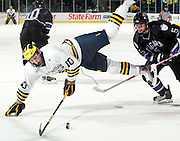10/22/09 Michigan vs. Niagara University ice hockey at Yost Arena.