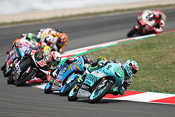 June 17, 2018 - Montmelo, Catalunya, Spain - Enea BASTIANINI of Italy and Leopard Racing leads the race during Gran Premi Monster Energy de Catalunya (Grand Prix of Catalunya), Moto3 race, on June 17, 2018 at the Catalunya racetrack in Montmelo, near Barcelona, Spain (Credit Image: © Manuel Blondeau via ZUMA Wire)