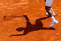 Ombre Novak Djokovic - 17.04.2015 - Tournoi de Monte Carlo 2015 - Masters 1000 <br />Photo : Serge Haouzi / Icon Sport