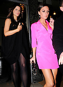 13.MARCH.2009 - LONDON<br /> <br /> VICTORIA BECKHAM LEAVING CLARIDGES HOTEL IN A PINK OUTFIT WITH GOOD FRIEND KATE BECKINSALE AT 9.30PM AND HEADED TO SCOTT'S RESTAURANT, MAYFAIR WHERE THEY STAYED TILL 11.30PM BEFORE HEADING BACK TO THERE HOTEL.<br /> <br /> BYLINE MUST READ : EDBIMAGEARCHIVE.COM<br /> <br /> *THIS IMAGE IS STRICTLY FOR UK NEWSPAPERS & MAGAZINES ONLY*<br /> *FOR WORLDWIDE SALES & WEB USE PLEASE CONTACT EDBIMAGEARCHIVE-0208 954 5968*