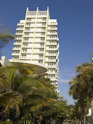 Upwards view of an luxury hotel Miami beach USA
