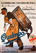 Quilmes beer advert...fisherman hauls in a mermaid, Ushuaia, Argentina