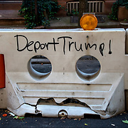 Deport Trump! President Trump graffiti in Manhattan.