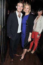 TOM RUTHERFORD and LINDSAY DENNIS at the launch of the Johnnie Walker Blue Label Club held at The Scotch, Mason's Yard, London on 1st May 2012.