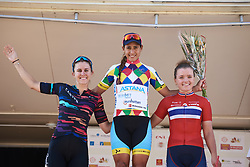 Top three on the stage: Arlenis Sierra Canadilla (CUB), Alexis Ryan (USA) and Susanne Andersen (NOR) at Tour Cycliste Féminin International de l'Ardèche 2018 - Stage 2, a 54.9km road race from Saint Fortunat sur Eyrie to Cruas, France on September 13, 2018. Photo by Sean Robinson/velofocus.com