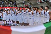 TRENTO TRENTINO BASKET CUP - 08082013 - italia israele<br /> NELLA FOTO : TEAM ITALIA<br /> FOTO CIAMILLO