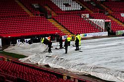 Groundsmen working on the pitch before Bristol City host Peterborough United - Photo mandatory by-line: Dougie Allward/JMP - Tel: Mobile: 07966 386802 29/12/2012 - SPORT - FOOTBALL - Ashton Gate - Bristol -  Bristol City v Peterborough United - Championship.