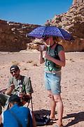People drinking and smoking at Middle East Tek, Wadi Rum, Jordan, 2008