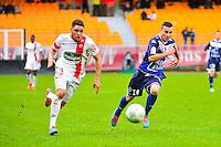 Simon FALETTE / Karim AZAMOUM - 10.01.2014 - Troyes / Brest - 19e journee Ligue 2<br /> Photo : Dave Winter / Icon Sport