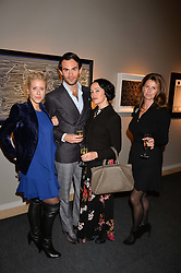 Elizabeth Esteve, Mark-Francis Vandelli, Kimmy Murdoch and Suzanna Knight at the 2017 PAD Collector's Preview, Berkeley Square, London, England. 02 October 2017.