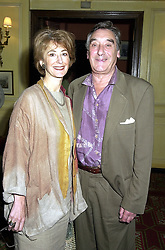 Actress MAUREEN LIPMAN and her husband MR JACK ROSENTHAL at a luncheon in London on 15th August 2000.OGR 5