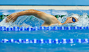 Ashgabat, Turkmenistan - 2017 September 24: Ezizguly Ballykow from Turkmenistan competes in Men's 200m Freestyle Heat 2 Short Course Swimming competition during 2017 Ashgabat 5th Asian Indoor &amp; Martial Arts Games at Aquatics Centre (AQC) at Ashgabat Olympic Complex on September 24, 2017 in Ashgabat, Turkmenistan.<br /> <br /> Photo by &copy; Adam Nurkiewicz / Laurel Photo Services