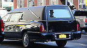 Feb. 7, 2014 - New York, New York, U.S. - <br /> <br /> A hearse waits for the body of actor Philip Seymour Hoffman at he Frank E. Campbell Funeral Home on the Upper East Side. Hoffman died of a suspected heroin overdose on February 2. <br /> ©exclusivepix