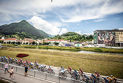 Perloton in Lasko during 1st Stage of 26th Tour of Slovenia 2019 cycling race between Ljubljana and Rogaska Slatina (171 km), on June 19, 2019 in  Slovenia. Photo by Vid Ponikvar / Sportida