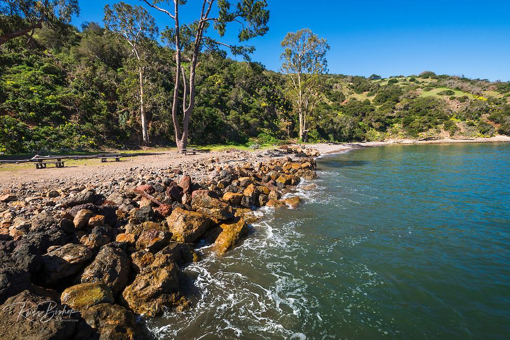 Beach at Prisonsers Harbor, Santa Cruz Island, Channel Islands National Park, California USA