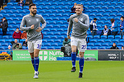 Marlon Pack of Cardiff City and Danny Ward of Cardiff City warming up  during the EFL Sky Bet Championship match between Cardiff City and Swansea City at the Cardiff City Stadium, Cardiff, Wales on 12 January 2020.