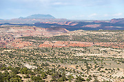 Escalante Canyons and the Henry Mountains with Highway 12 in the foreground, Southern Utah.