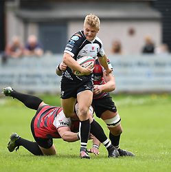 Pontypridd's Diggy Bird<br /> Cross Keys v Pontypridd RFC<br /> <br /> Photographer Mike Jones / Replay Images<br /> Pandy Park, Cross Keys.<br /> Wales - 12th May 2018.<br /> <br /> Cross Keys v Pontypridd RFC<br /> Principality Premiership<br /> <br /> World Copyright © Replay Images . All rights reserved. info@replayimages.co.uk - http://replayimages.co.uk