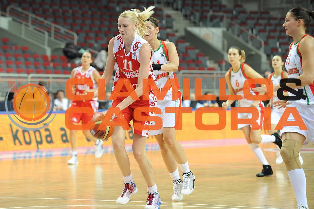 DESCRIZIONE : Riga Latvia Lettonia Eurobasket Women 2009 Qualifying Round Bielorussia Russia Belarus Russia<br /> GIOCATORE : Maria Stepanova<br /> SQUADRA : Russia Russia<br /> EVENTO : Eurobasket Women 2009 Campionati Europei Donne 2009 <br /> GARA : Bielorussia Russia Belarus Russia<br /> DATA : 12/06/2009 <br /> CATEGORIA : penetrazione palleggio<br /> SPORT : Pallacanestro <br /> AUTORE : Agenzia Ciamillo-Castoria/M.Marchi<br /> Galleria : Eurobasket Women 2009 <br /> Fotonotizia : Riga Latvia Lettonia Eurobasket Women 2009 Qualifying Round Bielorussia Russia Belarus Russia<br /> Predefinita :