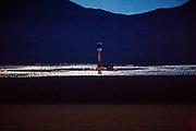Mojave Desert, California, USA, 20130908:  KOKEPUNKT: Det enorme solvarmekraftverket Ivanpah dominerer i Mojaveørkenen utenfor Las Vegas. Foto: Ørjan F. Ellingvåg