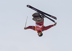 21.02.2018, Phoenix Snow Park, Bokwang, KOR, PyeongChang 2018, Freestyle Ski, Herren, Halfpipe, Training, im Bild Noah Bowman (CAN) // Noah Bowman of Canada during a Freestyle Skiing training session for the Men's Halfpipe competition of Pyeongchang 2018 Winter Olympic Games at the Phoenix Snow Park in Bokwang, South Korea on 2018/02/21. EXPA Pictures © 2018, PhotoCredit: EXPA/ Johann Groder