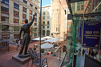 The entrance courtyard of the Liceu Opera House in Barcelona, Spain