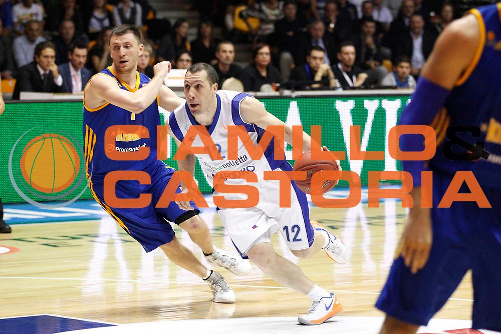 DESCRIZIONE : Desio Eurolega Eurolegue 2012-13 Mapooro Cantu Khimki Mosca<br /> GIOCATORE : Nicolas Mazzarino<br /> SQUADRA : Mapooro Cantu<br /> CATEGORIA : Palleggio Penetrazione<br /> EVENTO : Eurolega 2012-2013<br /> GARA : Mapooro Cantu Khimki Mosca<br /> DATA : 26/10/2012<br /> SPORT : Pallacanestro<br /> AUTORE : Agenzia Ciamillo-Castoria/G.Cottini<br /> Galleria : Eurolega 2012-2013<br /> Fotonotizia : Desio Eurolega Eurolegue 2012-13 Mapooro Cantu Khimki Mosca<br /> Predefinita :
