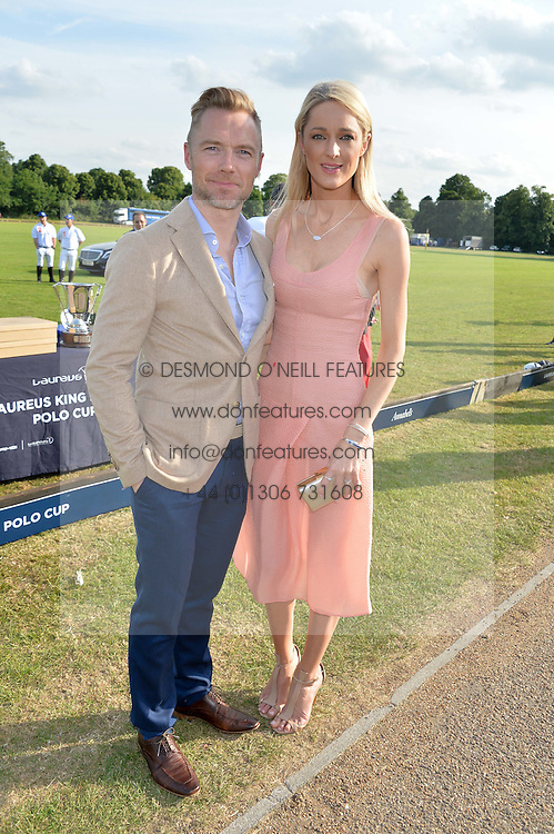 RONAN KEATING and STORM UECHTRITZ at the Laureus Polo held at Ham Polo Club, Ham, Richmond, Surrey on 18th June 2015.